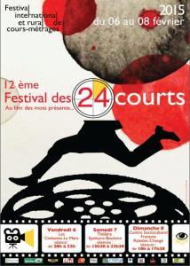 Affiche Festival des 24 courts